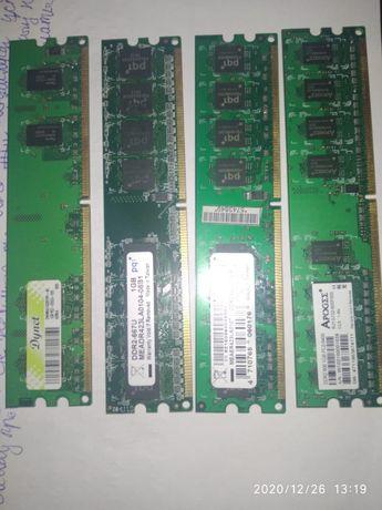 Оперативная память (ОЗУ) DDR 2 на 1 гб, 4 штук