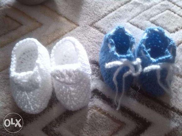 Бебешки терлички от ангора и акрил - ръчно плетени модели
