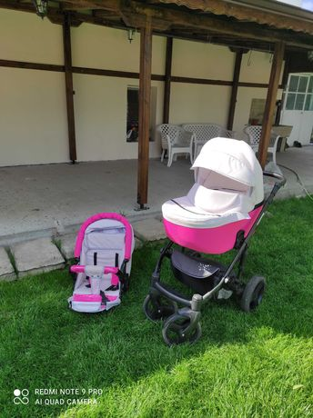 Детска количка с летен  и зимен кош за продаване