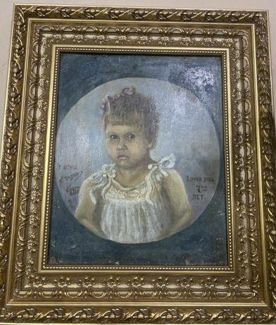 Продам картину «Дочка Лида 7-ми лет».