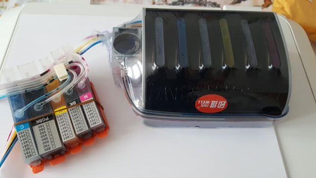 Kit cartus extern compatibil cu imprimanta inkjet Canon
