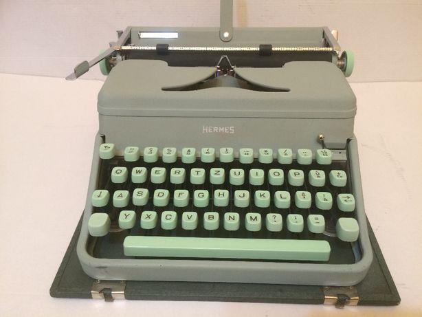 Masina de scris vintage Hermes Media- 1957