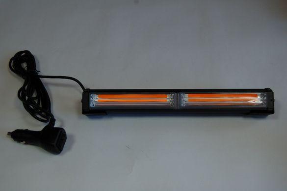 Блиц Оранжев ледлайт бар -Ledlightbar на 12 волта за коли,атв,мотори