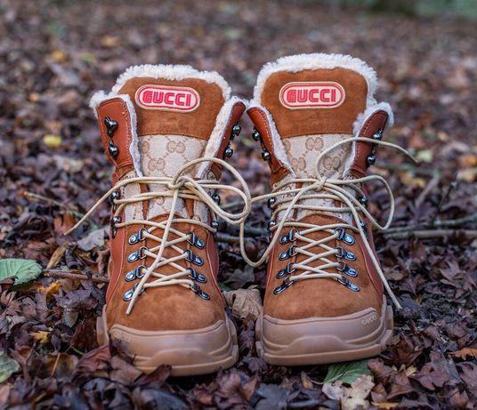 Ghete GUCCI Imblanite - Barbati - Pantofi Inalti - Piele naturala