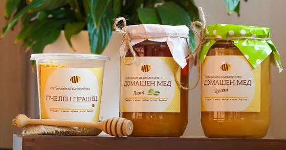 Сертифициран био мед и пчелен прашец