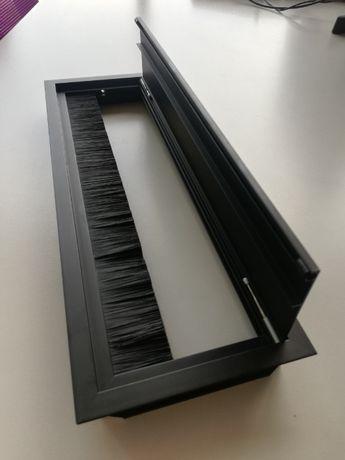 Modul organizator de cabluri din aluminiu, pentru masa de sedinta
