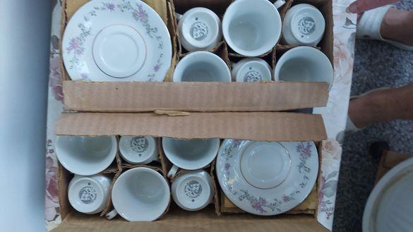 Нови порцеланови чаши за кафе с антикварна стойност