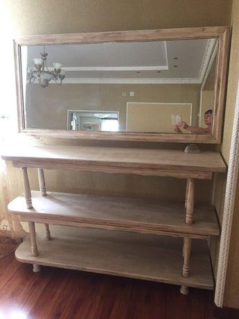 Набор этажерка и зеркало