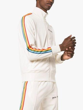 PALM ANGELS Neutral Rainbow Striped Logo Мъжки Екип Анцуг размер M / L