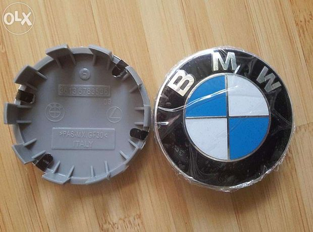 Capacele centrale BMW NOI, ORIGINALE cu 10 picioruse jante aliaj 68 mm