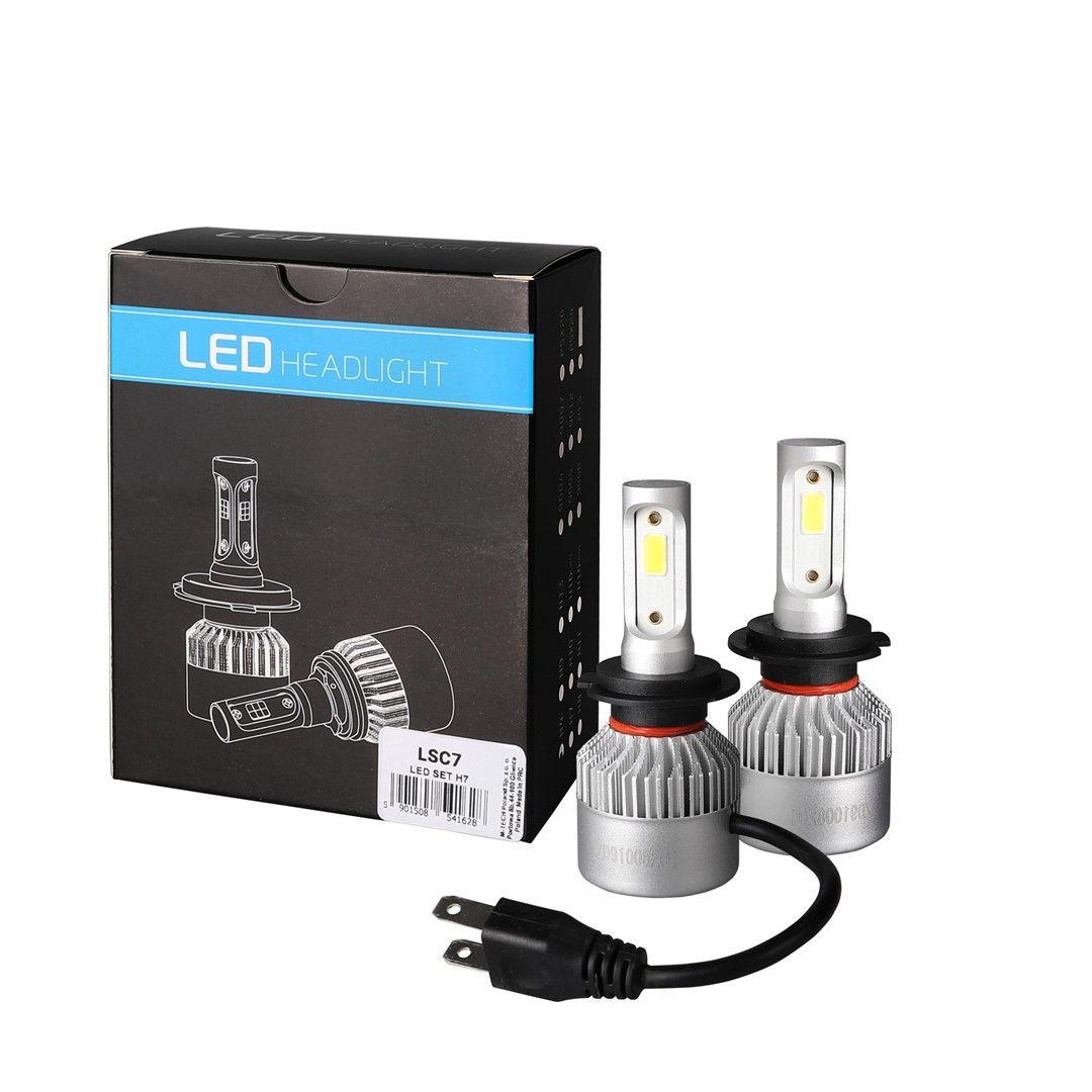 Комплект LED Мини крушки фар Н7,Н1,Н11- 80W 16000 Lm +150% светлина