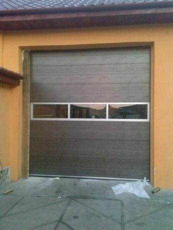Usi de garaj 2350*3000 cu panouri vitrate