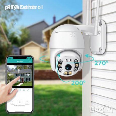 Безжична външна въртяща WIFI Full HD IP camera камера 5MP Lens