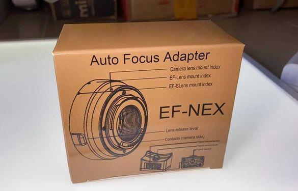 Адаптър за канонски обективи EF EF-S към E-mount + Гаранция