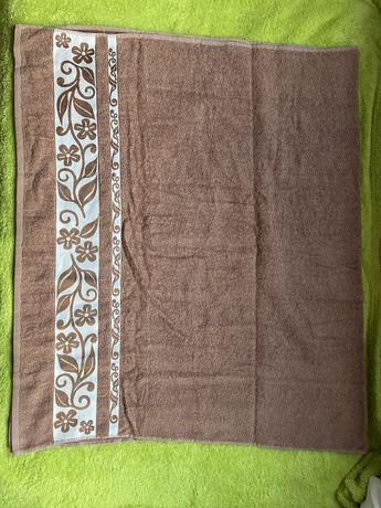 Голяма хавлиена кърпа кафява 154/87см