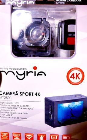 Cameră sport Myria 4K cu telecomandă wireless NOU