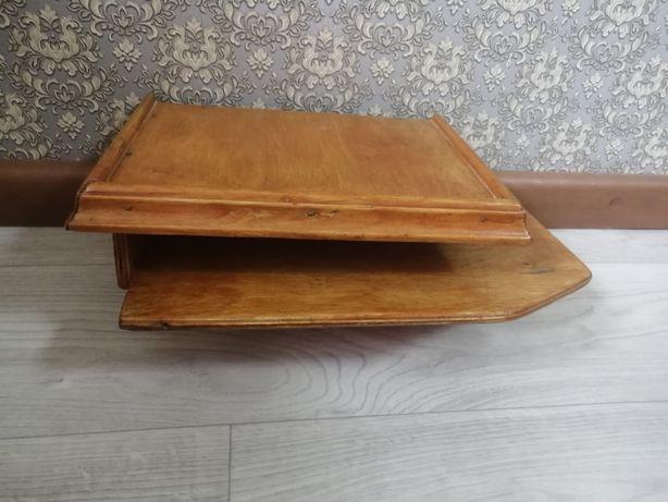 Полочка деревянная для телефона, блокнотов