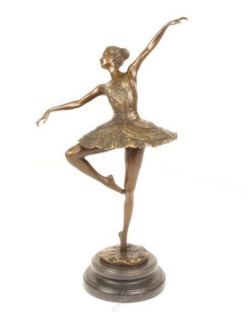 Balerina-statueta din bronz pe un soclu din marmura KF-92