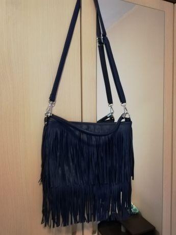 Дамска чанта на ресни с две дръжки