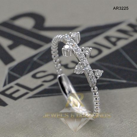 Inel Aur Alb cu Diamant model nou ARJEWELS(AR3225)