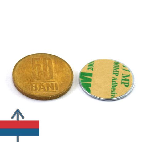 Magnet autoadeziv 22x1mm Neodim disc Puternic forta 1 kg