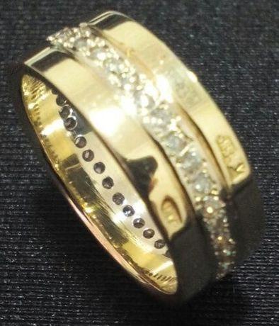 Золотое колечко с бриллиантами! 585 проба! Как новое!!!