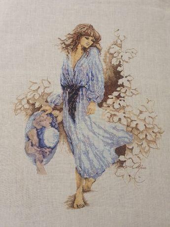 Оригинален гоблен ЛАНАРТЕ - Момиче в синьо