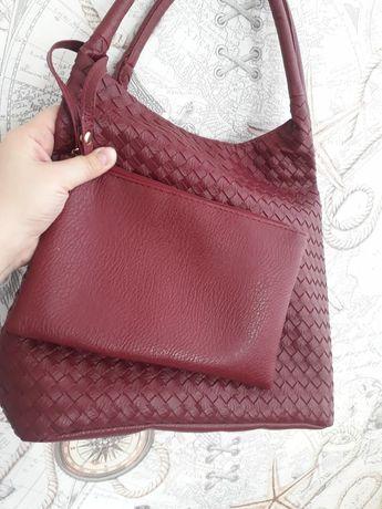 Новая сумка цвет бордо
