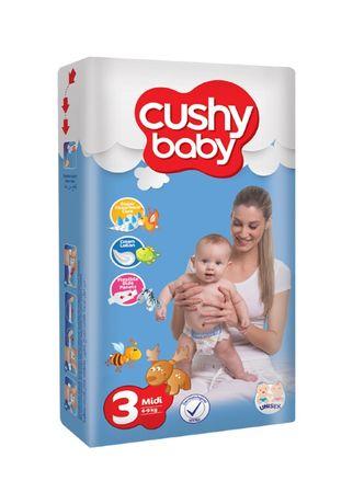 Scutece copii, Cushy baby, 70Buc/set, Midi, Marime 3, 4-9 Kg, 5-9luni