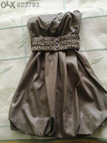 Кокетна сива рокля балон на Тhesis