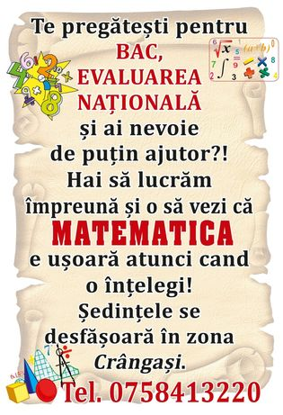 Meditatii matematica II - XII / Bac/Evaluare Nationala