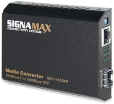 SIGNAMAX Media Converter 065-1195 1000BASE T 1000 BASE SX SC Fibra