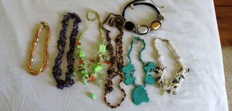 Атрактивни бижута,естествени камъни,свежи,летни цветове