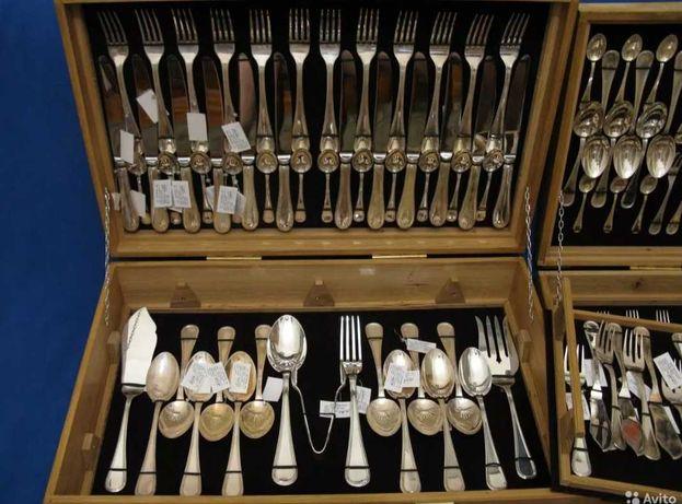 Серебро 925 Столовый набор 12 персон 158 приборов