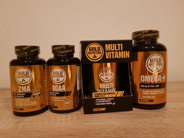 Gold Nutrition: Zma, BCAA, Multivitamin, OMEGA+