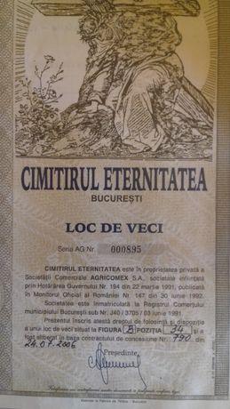 Loc De Veci Cimitirul Eternitatea sector 4 București