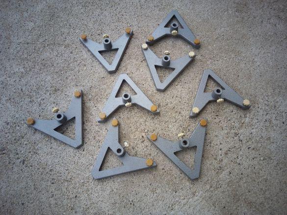 Стари алуминиеви стойки от макети 8 броя