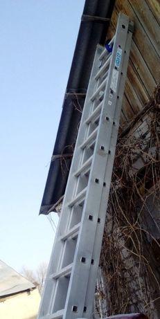 KRAUSE лестница два яруса, вылет 6-7 метров,22 ступеней,новая.