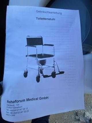 Scaun nou  persoane handicap cu oala wc