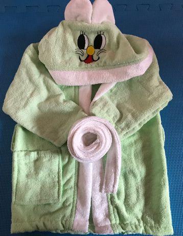 Детски халат с ушички