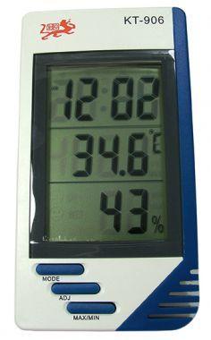 Termometru, Ceas Si Higrometru, Cu Afisaj LCD - KT-906