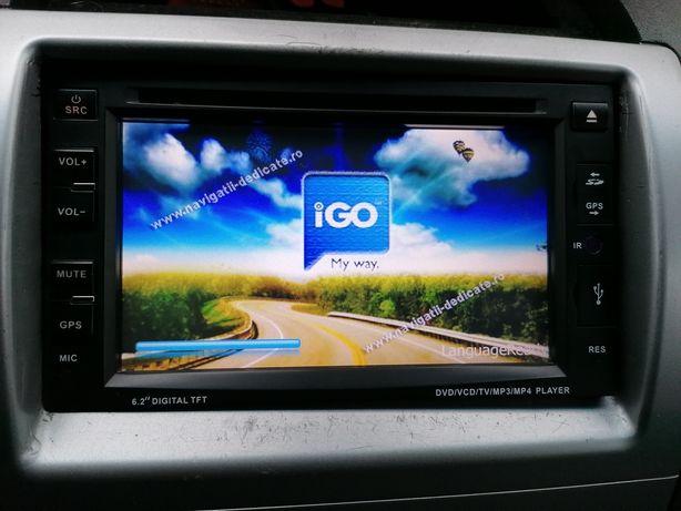 """navigatie universala 2 DIN - 6,2"""", GPS,DVD,BT, touchscreen,telecomanda"""