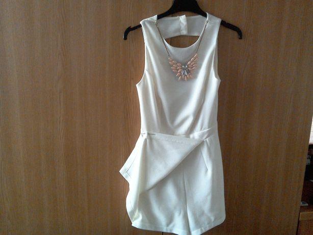 Rochiţă (NOUĂ) pantalon albă cu colier - pentru fetiţe de 8 - 10 ani