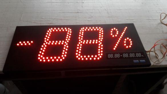 Рекламна светодиодна табела отстъпка процент промоция