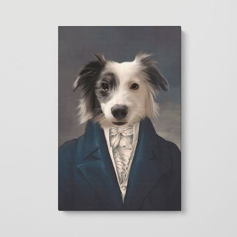 Креативный подарок! Стилизовнный портрет домашнего животного на холсте