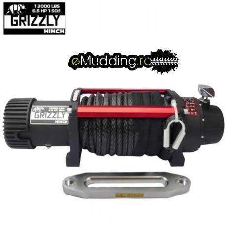 Troliu Grizzly Winch 9500LBS (4310KG) cu cablu sintetic