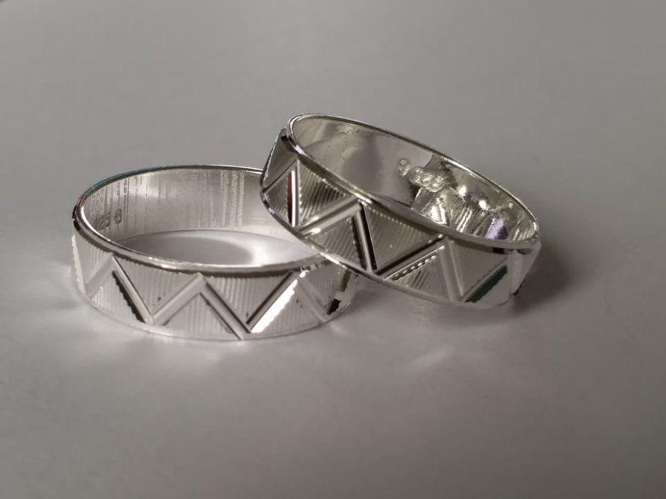 J41,verighete argint 925, noi/marcate, marimi mici si medii