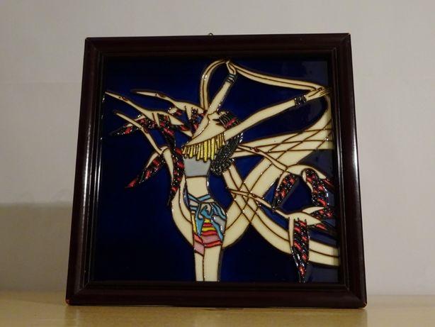 Tablou Ceramică Art Deco - Dans cu păsări