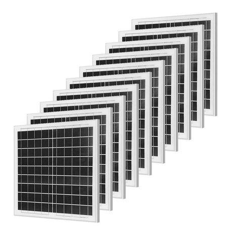 Set 10 Bucăți Panou Solar 10W En-Gros noi cu Garanție