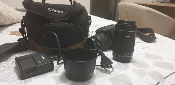 Canon EOS 1200D + 2 обектива: EF-S 18-55mm f/3.5-5.6 III, EF-S 55-250m